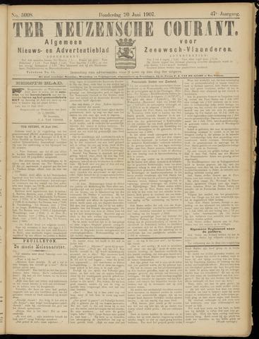 Ter Neuzensche Courant. Algemeen Nieuws- en Advertentieblad voor Zeeuwsch-Vlaanderen / Neuzensche Courant ... (idem) / (Algemeen) nieuws en advertentieblad voor Zeeuwsch-Vlaanderen 1907-06-20