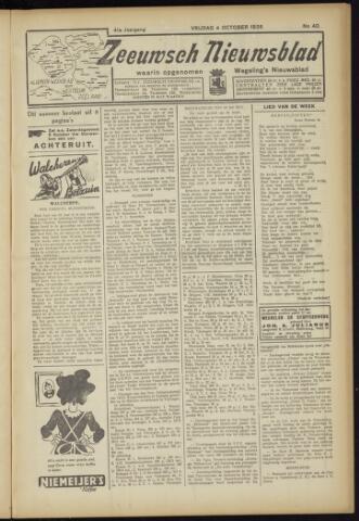 Zeeuwsch Nieuwsblad/Wegeling's Nieuwsblad 1935-10-04