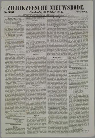 Zierikzeesche Nieuwsbode 1874-10-29