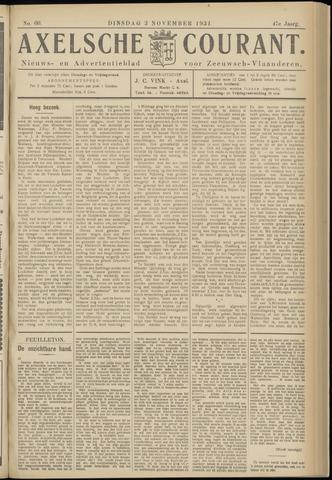 Axelsche Courant 1931-11-03