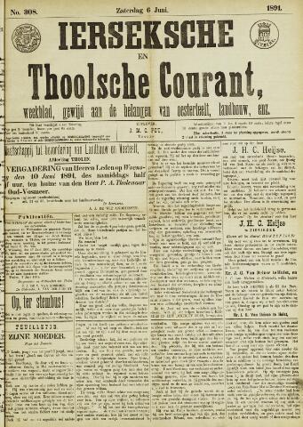 Ierseksche en Thoolsche Courant 1891-06-06