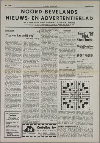 Noord-Bevelands Nieuws- en advertentieblad 1982-06-03
