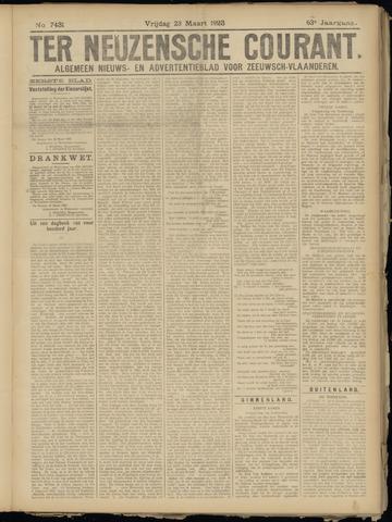 Ter Neuzensche Courant. Algemeen Nieuws- en Advertentieblad voor Zeeuwsch-Vlaanderen / Neuzensche Courant ... (idem) / (Algemeen) nieuws en advertentieblad voor Zeeuwsch-Vlaanderen 1923-03-23