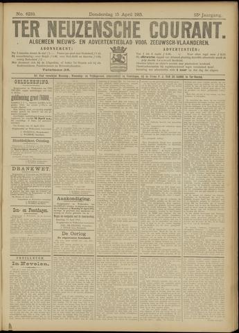 Ter Neuzensche Courant. Algemeen Nieuws- en Advertentieblad voor Zeeuwsch-Vlaanderen / Neuzensche Courant ... (idem) / (Algemeen) nieuws en advertentieblad voor Zeeuwsch-Vlaanderen 1915-04-15