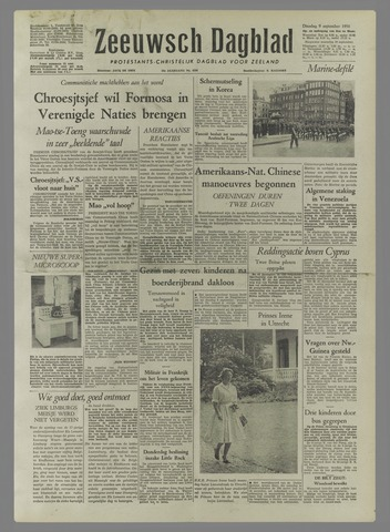 Zeeuwsch Dagblad 1958-09-09