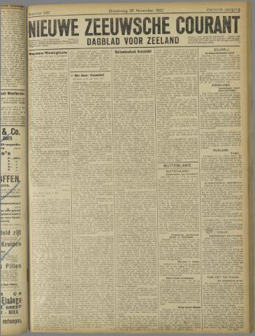 Nieuwe Zeeuwsche Courant 1920-11-25