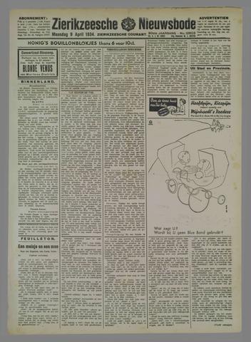 Zierikzeesche Nieuwsbode 1934-04-09