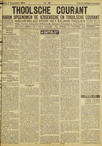 Ierseksche en Thoolsche Courant 1934-09-07