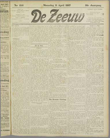 De Zeeuw. Christelijk-historisch nieuwsblad voor Zeeland 1917-04-02