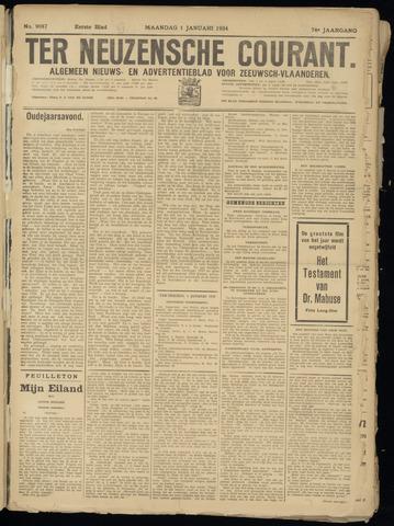 Ter Neuzensche Courant. Algemeen Nieuws- en Advertentieblad voor Zeeuwsch-Vlaanderen / Neuzensche Courant ... (idem) / (Algemeen) nieuws en advertentieblad voor Zeeuwsch-Vlaanderen 1934-01-01