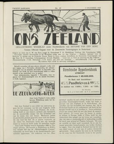 Ons Zeeland / Zeeuwsche editie 1927-12-03