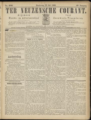 Ter Neuzensche Courant. Algemeen Nieuws- en Advertentieblad voor Zeeuwsch-Vlaanderen / Neuzensche Courant ... (idem) / (Algemeen) nieuws en advertentieblad voor Zeeuwsch-Vlaanderen 1900-07-26