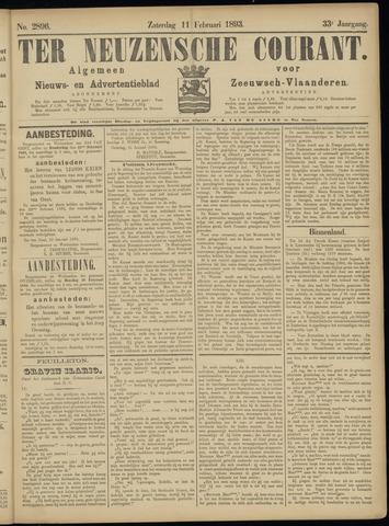Ter Neuzensche Courant. Algemeen Nieuws- en Advertentieblad voor Zeeuwsch-Vlaanderen / Neuzensche Courant ... (idem) / (Algemeen) nieuws en advertentieblad voor Zeeuwsch-Vlaanderen 1893-02-11
