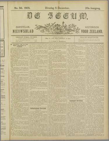 De Zeeuw. Christelijk-historisch nieuwsblad voor Zeeland 1905-12-05