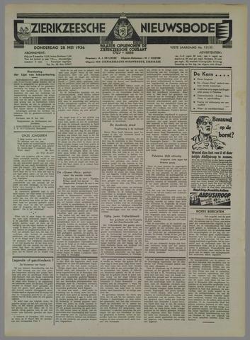 Zierikzeesche Nieuwsbode 1936-05-28