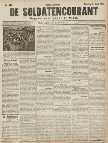 De Soldatencourant. Orgaan voor Leger en Vloot 1917-04-08