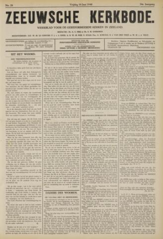Zeeuwsche kerkbode, weekblad gewijd aan de belangen der gereformeerde kerken/ Zeeuwsch kerkblad 1940-06-14