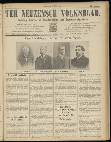 Ter Neuzensch Volksblad. Vrijzinnig nieuws- en advertentieblad voor Zeeuwsch- Vlaanderen / Zeeuwsch Nieuwsblad. Nieuws- en advertentieblad voor Zeeland 1913-06-07