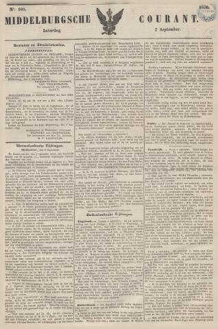 Middelburgsche Courant 1850-09-07