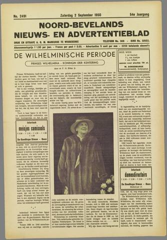 Noord-Bevelands Nieuws- en advertentieblad 1950-09-02