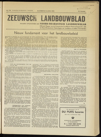 Zeeuwsch landbouwblad ... ZLM land- en tuinbouwblad 1955-07-16