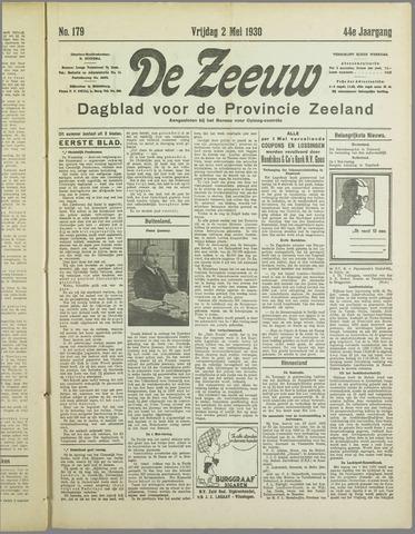 De Zeeuw. Christelijk-historisch nieuwsblad voor Zeeland 1930-05-02