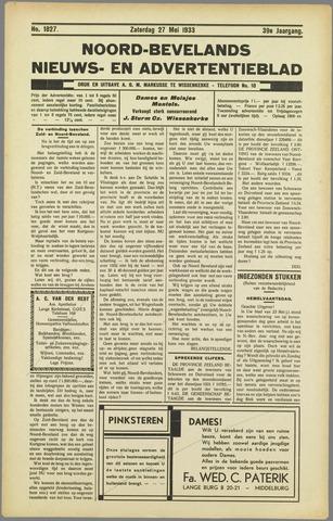 Noord-Bevelands Nieuws- en advertentieblad 1933-05-27