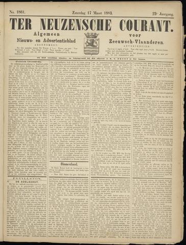 Ter Neuzensche Courant. Algemeen Nieuws- en Advertentieblad voor Zeeuwsch-Vlaanderen / Neuzensche Courant ... (idem) / (Algemeen) nieuws en advertentieblad voor Zeeuwsch-Vlaanderen 1883-03-17