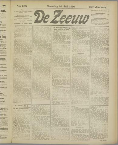 De Zeeuw. Christelijk-historisch nieuwsblad voor Zeeland 1916-07-10