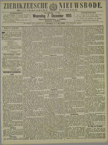 Zierikzeesche Nieuwsbode 1910-12-07