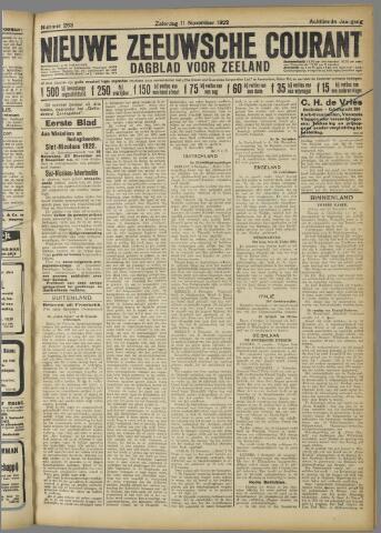 Nieuwe Zeeuwsche Courant 1922-11-11