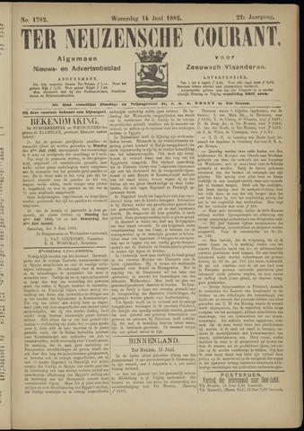 Ter Neuzensche Courant. Algemeen Nieuws- en Advertentieblad voor Zeeuwsch-Vlaanderen / Neuzensche Courant ... (idem) / (Algemeen) nieuws en advertentieblad voor Zeeuwsch-Vlaanderen 1882-06-14