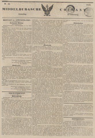 Middelburgsche Courant 1843-02-11