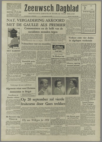 Zeeuwsch Dagblad 1958-06-02