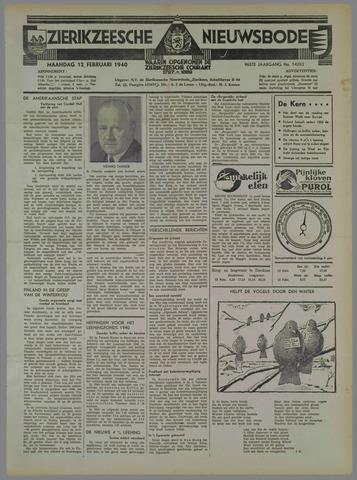 Zierikzeesche Nieuwsbode 1940-02-12