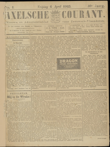 Axelsche Courant 1923-04-06