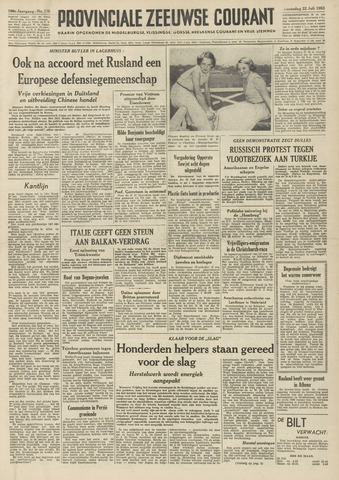 Provinciale Zeeuwse Courant 1953-07-22
