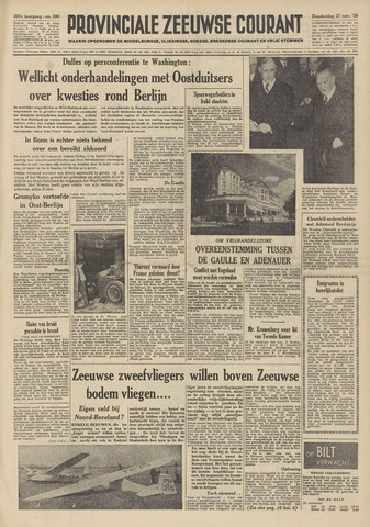 Provinciale Zeeuwse Courant 1958-11-27