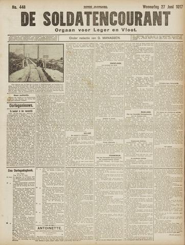 De Soldatencourant. Orgaan voor Leger en Vloot 1917-06-27