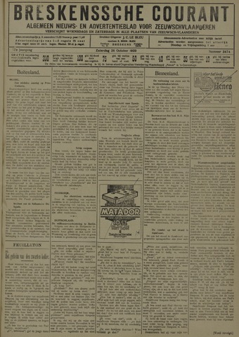 Breskensche Courant 1929-10-26