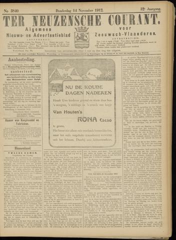 Ter Neuzensche Courant. Algemeen Nieuws- en Advertentieblad voor Zeeuwsch-Vlaanderen / Neuzensche Courant ... (idem) / (Algemeen) nieuws en advertentieblad voor Zeeuwsch-Vlaanderen 1912-11-14