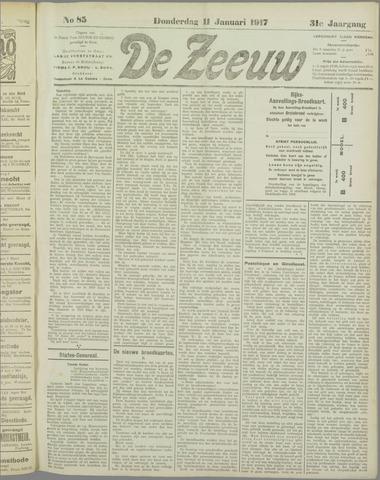 De Zeeuw. Christelijk-historisch nieuwsblad voor Zeeland 1917-01-11