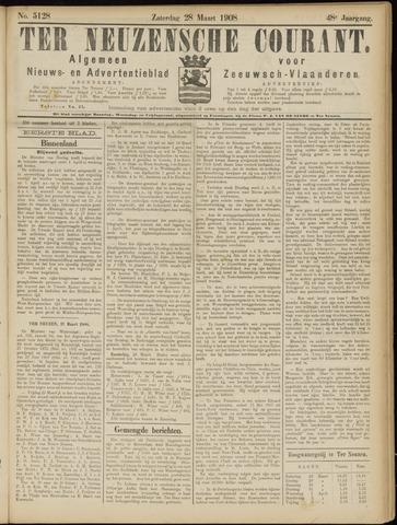 Ter Neuzensche Courant. Algemeen Nieuws- en Advertentieblad voor Zeeuwsch-Vlaanderen / Neuzensche Courant ... (idem) / (Algemeen) nieuws en advertentieblad voor Zeeuwsch-Vlaanderen 1908-03-28