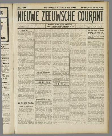 Nieuwe Zeeuwsche Courant 1917-11-24
