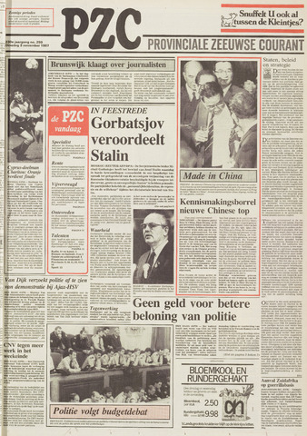Provinciale Zeeuwse Courant 1987-11-03