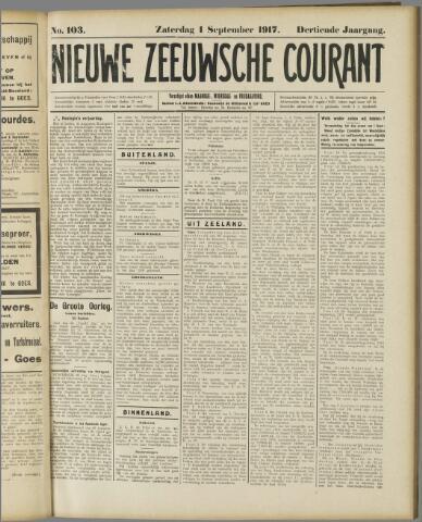 Nieuwe Zeeuwsche Courant 1917-09-01