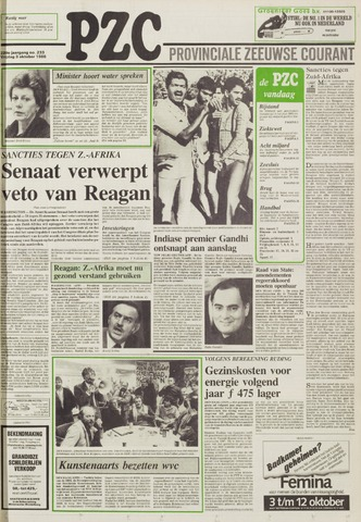 Provinciale Zeeuwse Courant 1986-10-03