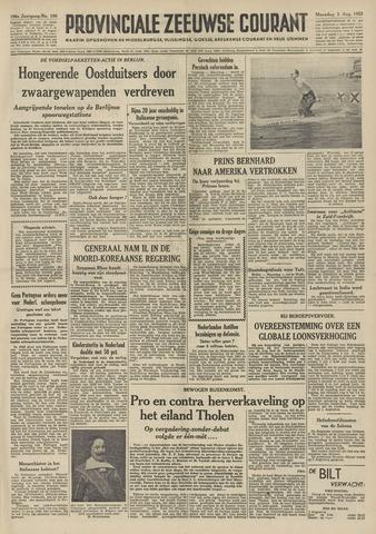 Provinciale Zeeuwse Courant 1953-08-03