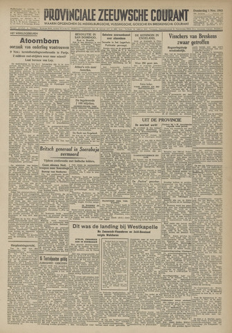 Provinciale Zeeuwse Courant 1945-11-01