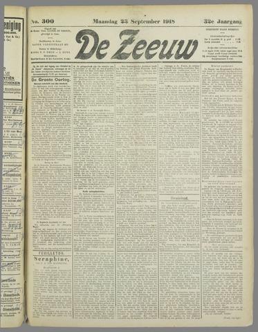 De Zeeuw. Christelijk-historisch nieuwsblad voor Zeeland 1918-09-23